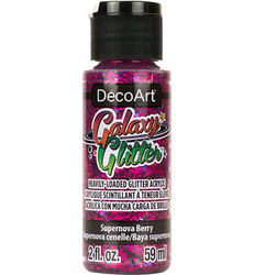 DecoArt Galaxy Glitter -maali, sävy Supernova Berry