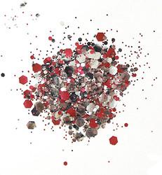 Cosmic Shimmer biologisesti hajoava glitter mix, sävy Raspberry Ripple