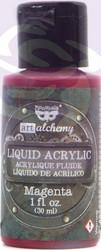 Finnabair Art Alchemy Liquid -akryylimaali, sävy Magenta