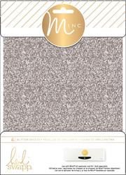 Heidi Swapp Minc Glitter Sheets, sävy Silver