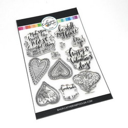 Catherine Pooler leimasinsetti Doodle Hearts