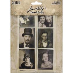 Tim Holtz Idea-Ology Photobooth Vintage Photo Strips, leikekuvat, 40 kpl