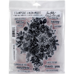 Stampers Anonymous, Tim Holtz leimasinsetti Glorious Bouquet