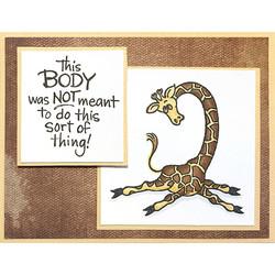 Stampendous leimasin Yoga Giraffe