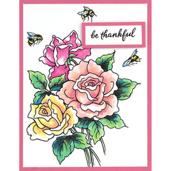 Stampendous leimasinsetti Roses to Be Happy