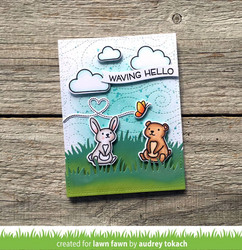Lawn Fawn stanssisetti Simple Wavy Banners