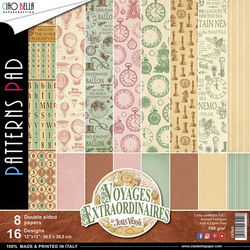 Ciao Bella Patterns Pad paperipakkaus Voyages Extraordinaires, 12