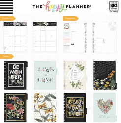 Mambi Happy Planner 18-Month Dated Classic Planner -kalenteri, Vintage Botanical