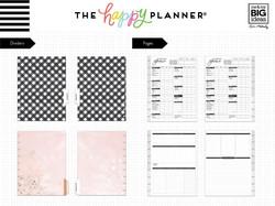 Mambi Happy Planner Classic laajennuspakkaus Home