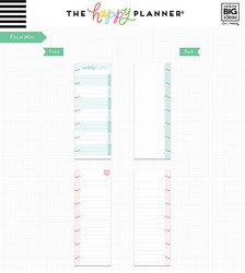 Mambi Mini Planner Half Sheet paperipakkaus Weekly Notes