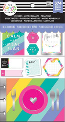 Mambi Happy Planner Note Cards/Sticky Note -pakkaus, Meal Planning