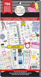 Mambi Happy Planner -tarrapakkaus Teachers Rule