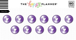 Mambi Happy Planner metallirenkaat, medium, sävy Violet
