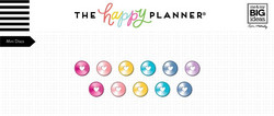 Mambi Happy Planner metallirenkaat, small, sävy Rainbow