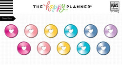 Mambi Happy Planner metallirenkaat, medium, sävy Rainbow