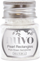 Nuvo Pure Sheen Gemstones -koristeet, Pearl Rectangles