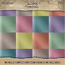 Tim Holtz Idea-Ology paperikko Kraft Metallic Confections
