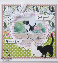Marianne Design Tiny's kittens -korttikuvat