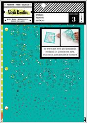 Vicki Boutin Mixed Media sapluunasetti Kaleidoscope, 3 kpl