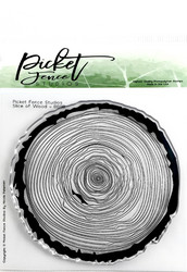 Picket Fence leimasin Slice of Wood