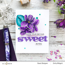 Altenew Build-A-Flower Sweet Violet stanssi- ja leimasinsetti