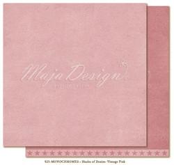 Maja Design Monochromes Shades of Denim skräppipaperi, sävy Vintage pink