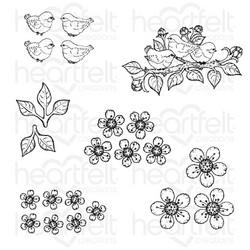 Heartfelt Creations Tweet Cherry Blossoms -leimasin