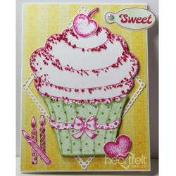 Heartfelt Creations Sugarspun Cupcake -leimasin