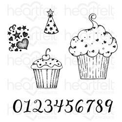 Heartfelt Creations Sprinkled Confetti Cupcakes -leimasin