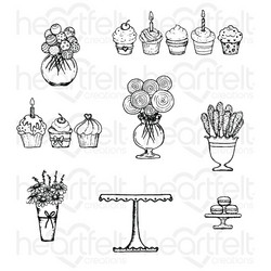 Heartfelt Creations Sweet Shoppe Treats -leimasin