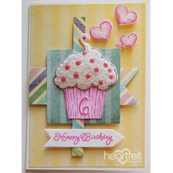 Heartfelt Creations Sprinkled Confetti Cupcakes -stanssisetti