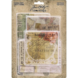 Tim Holtz Idea-Ology Journal Cards, 100 kpl