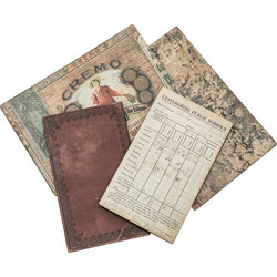 Tim Holtz Idea-Ology Bookboard Baseboards Salvaged, 4 kpl