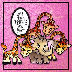 Stampendous leimasin- ja stanssisetti Giraffe