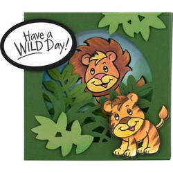 Stampendous leimasin- ja stanssisetti Lion