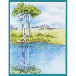 Stampendous leimasinsetti Scenic Meadow