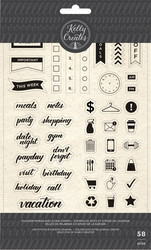 Kelly Creates leimasinsetti Planner Words & Icons