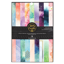 Kelly Creates paperipakkaus Galaxy, with foil