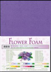 Leane Creatief Flower Foam -softislevy kukkien tekoon, dark violet