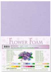 Leane Creatief Flower Foam -softislevy kukkien tekoon, light violet