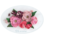 Leane Creatief Flower Foam -softislevy kukkien tekoon, bordeaux