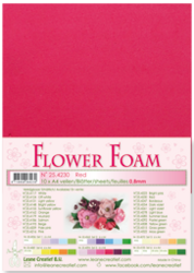 Leane Creatief Flower Foam -softislevy kukkien tekoon, red