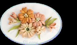 Leane Creatief Flower Foam -softislevy kukkien tekoon, mustard