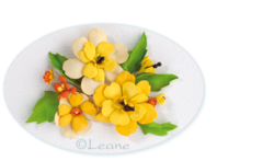 Leane Creatief Flower Foam -softislevy kukkien tekoon, sunflower yellow
