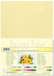 Leane Creatief Flower Foam -softislevy kukkien tekoon, light yellow