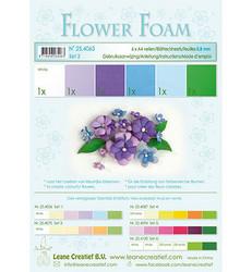 Leane Creatief Flower Foam -softislevy kukkien tekoon, setti 2 blue - violet