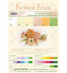 Leane Creatief Flower Foam -softislevy kukkien tekoon, setti 3 salmon