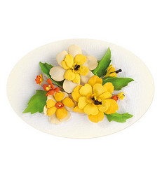 Leane Creatief Flower Foam -softislevy kukkien tekoon, setti 4 yellow