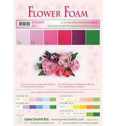 Leane Creatief Flower Foam -softislevy kukkien tekoon, setti 5 red - pink