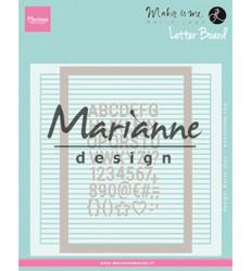 Marianne Design kohokuviointikansio ja stanssisetti Letter Board
